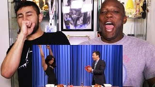 PRIYANKA & JIMMY FALLON Wing Eating Contest Reaction WSyntell!