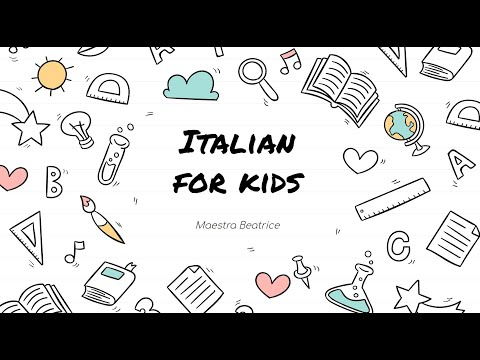 Here's the full version of my live class Italian for Kids - Presented by TakeLessons TV