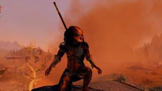 """A Yautja (Predator) in Tamriel"" - Skyrim Special Edition."