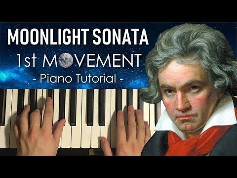 Beethoven - Moonlight Sonata - 1st Movement (PIANO TUTORIAL LESSON)