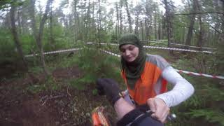 """3rd place in the prologue after a hard crash. """"Enduro 4 SEASONS Rally: 3 stage"""" Full Helmet Footage"""