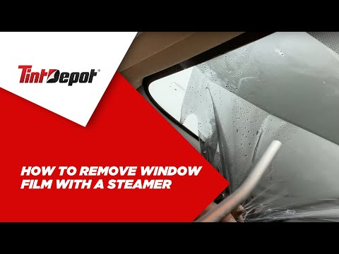 How to Remove Window Film with a Steamer