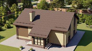Проект дома 091-B, Площадь дома: 91 м2, Размер дома:  9,5x11,9 м