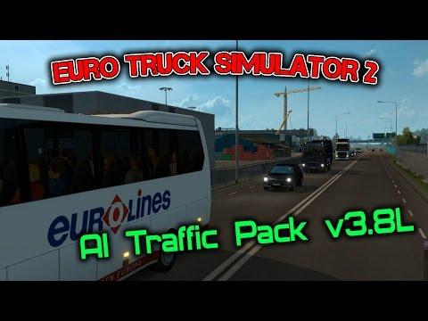 Euro Truck Simulator 2 обзор мода ( AI Traffic Pack v3.8 )