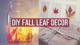 ✂ 3 DIY Fall Leaf Decor Ideas