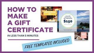 How to make a gift certificate (free template included)