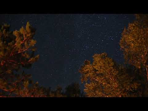 A time lapse of the night sky over our campsite.