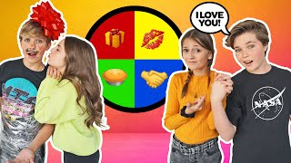 LAST TO Say NO To The MYSTERY WHEEL Wins Challenge **She KISSED Her CRUSH** 💋|Hayden Haas