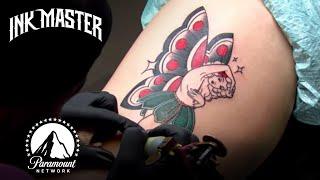American Traditional Fairy Elimination Tattoo Challenge Highlight 🍄 Turf War (Season 13)
