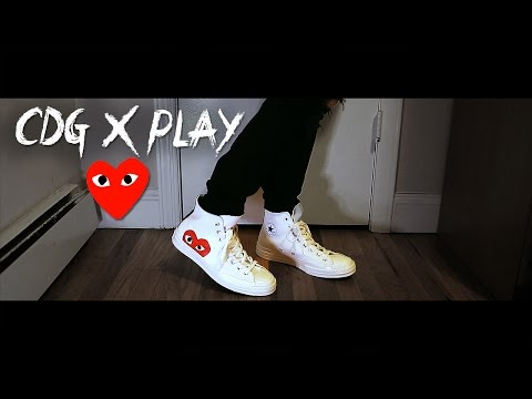 CDG Play x Converse | Unboxing & On Foot Review!
