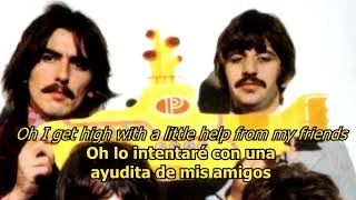 With a little help of my friends - The Beatles (LYRICS/LETRA) [Original]