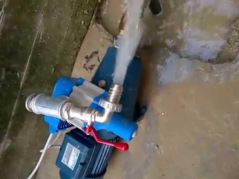 Pompa eletrica Pedrollo montata su pozzo a spillo Roberto e Caludio 3389511614/5