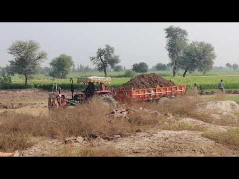 Tractor Stunts - Massey Tractor Stunt in Punjab - Massey 385 Loaded Trolley - MF 385