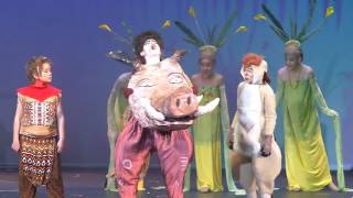 Lion King Jr. Hakuna Matata Scene. Emma Grace Sanderson TImon