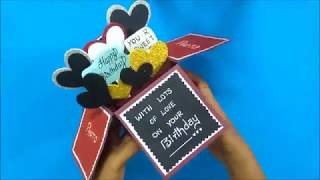 Beautiful Handmade Birthday Card for Boyfriend | How to make Birthday Card | Tutorial