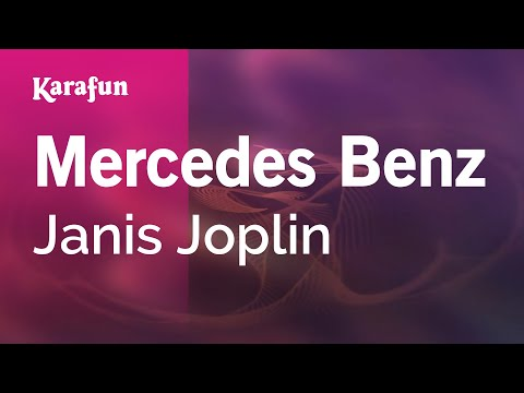 Mercedes Benz - Janis Joplin | Karaoke Version | KaraFun