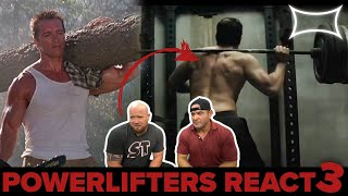 Professional Powerlifters React to Lifting Scenes in Hollywood 3