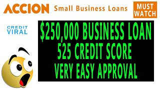 Get $250,000 Business Loan With Bad Credit! Very Easy Approval! Must Watch!