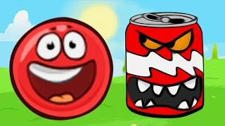 Добрый Гвоздь ЛОПНУЛ ЗЛОЙ Красный Шарик новый мультик игра для детей Шар Квадрат Red ball 4 Приколы.