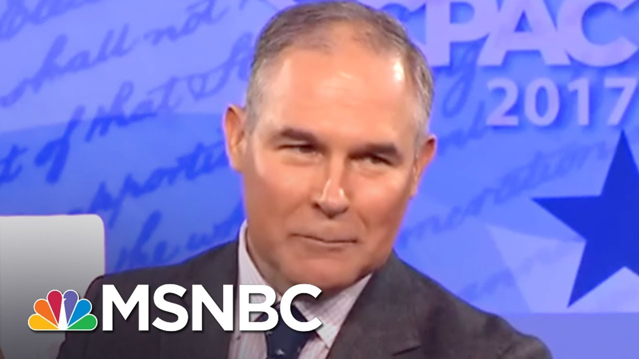 EPA Chief Wanted To Stage Climate Science Debates: Report | All In | MSNBC thumbnail