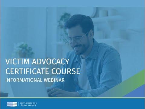 Victim Advocacy Informational Webinar (June 2020) | The Center for ...