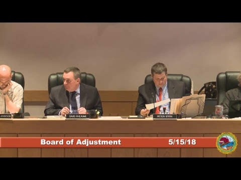 Board of Adjustment 5.15.2018