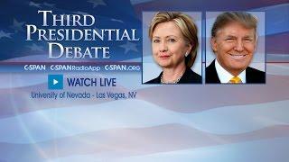 LIVE: Third Presidential Debate (C-SPAN)