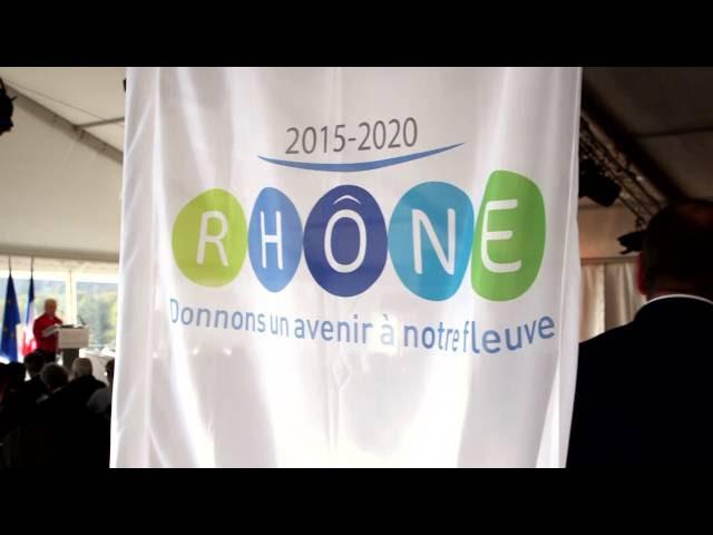 Signature du PLAN RHÔNE 2015-2020 à Rochemaure - 30 octobre 2015