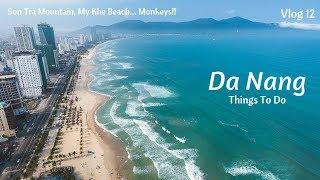 Vlog 12 | Da Nang Vietnam | Monkeys! | UNREAL Drone Footage! | My Khe Beach | Son Tra Mountain