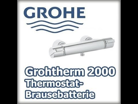grohe grohtherm 2000 thermostat brausebatterie 34469001 preisvergleich ab 174 90. Black Bedroom Furniture Sets. Home Design Ideas