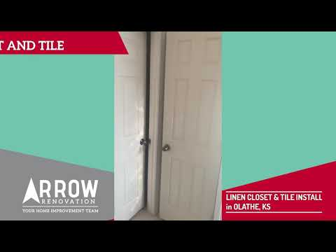 Master Bathroom Linen Closet Built in Olathe, KS