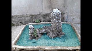 Cách làm hòn non bộ bằng xi măng đẹp (nhị sơn hạ thủy) - doing the penjing by cement