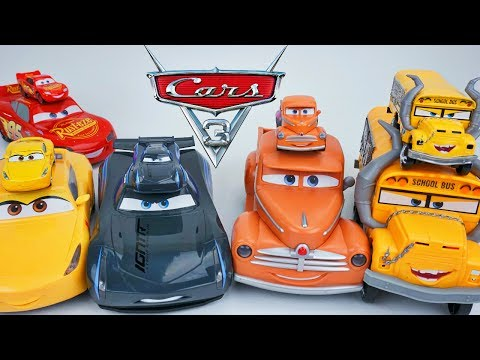FUNNY TALKING CARS 3 BIG LITTLE JACKSON LIGHTNING CRUZ SMOKEY SOUNDS HEADLIGHTS BEST TOY FOR RACING