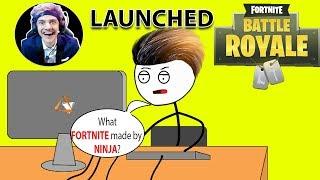 What If NINJA Launched FORTNITE