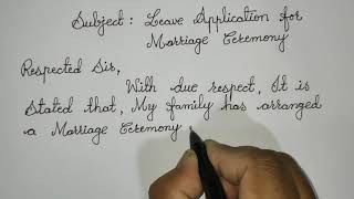 One Week Marriage Leave Application for School // Letter Writing in Cursive @Sunflower