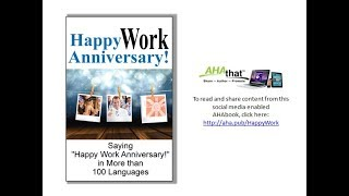 Happy Work Anniversary Read and Share via AHAthat