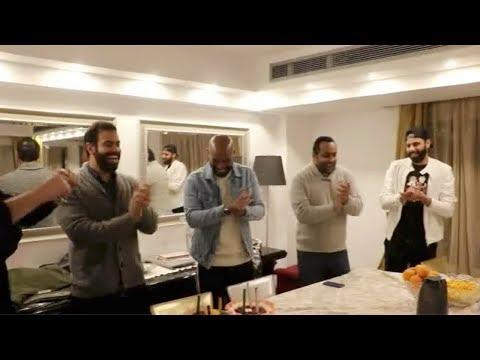 العرب اليوم - نجوم نادي الزمالك يحتفلون بعيد ميلاد شيكابالا