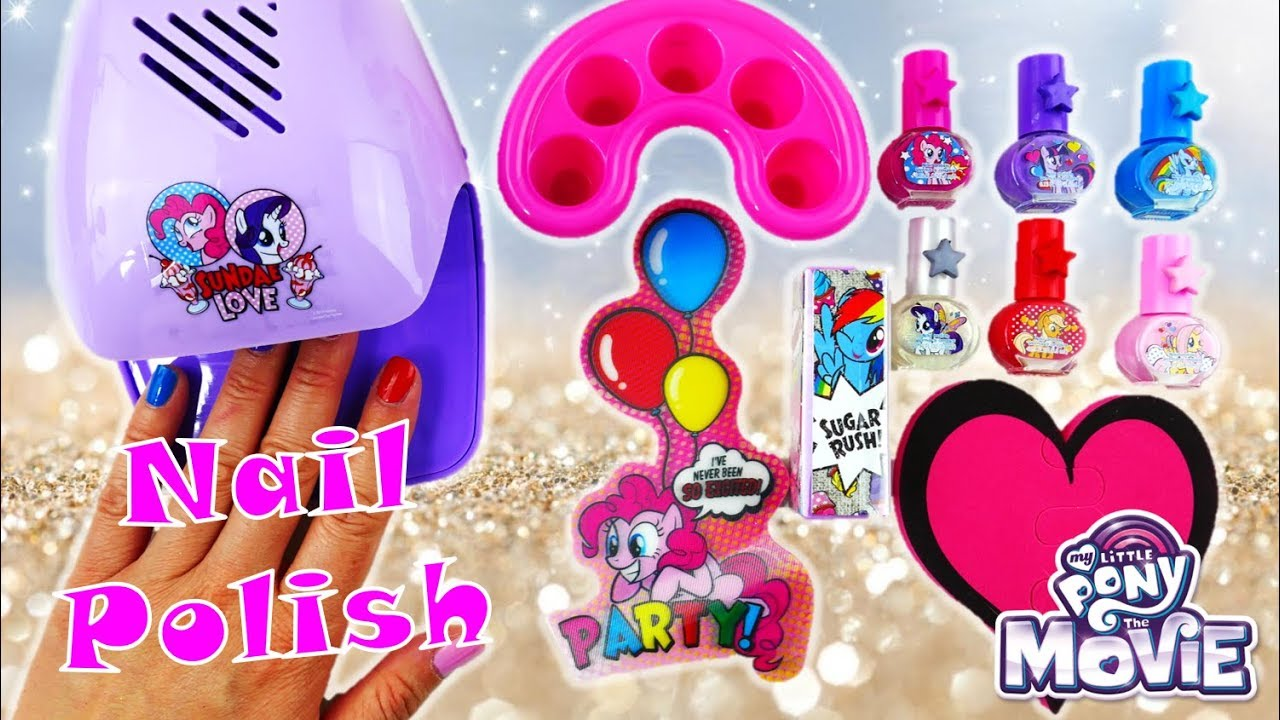 New My Little Pony Nail Salon with Nail Polish and Nail Dryer Kit