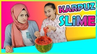 Karpuz Slime Yaptık !! | DIY - Kendin Yap | Kid make Watermelon Slime Fun Video for children