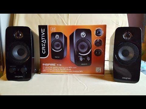 Creative PC-Lautsprecher Inspire T10. 2.0 Stereo (UNBOXING)