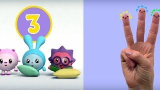 Число 3 - Малышарики: Умные песенки - развивающие и обучающие мультфильмы для детей и малышей