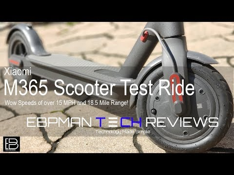 Xiaomi M365 Electric Scooter 18.6 Miles 15.5 MPH | Review and Test Ride