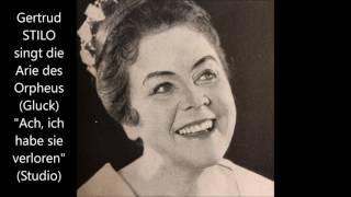 """Gertrud Stilo singt die Arie des Orpheus (3. Akt): """"Ach, ich habe sie verloren"""""""