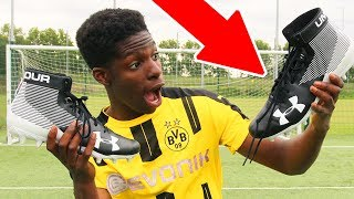 BRITISH KID tries AMERICAN FOOTBALL BOOTS!! - is it REALLY worth it??