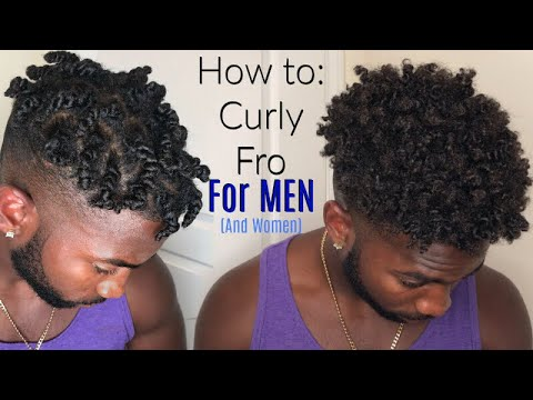 How to: Textured Fro  Twistout Tutorial For Natural Men (and Women)