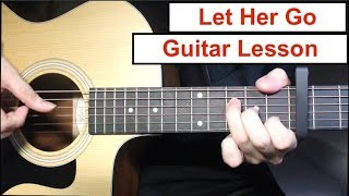 Passenger - Let Her Go | Guitar Lesson (Fingerpicking Intro & Chords Strumming) Tutorial