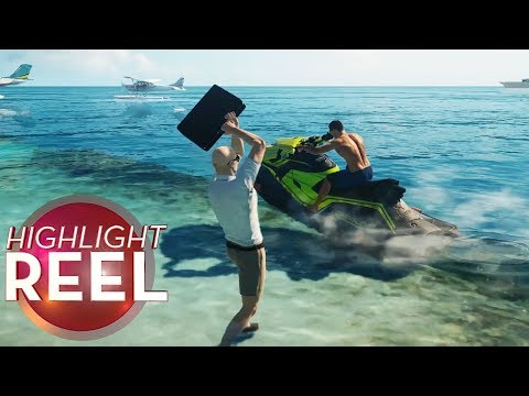 Hitman Jet Skier Catapulted By Briefcase