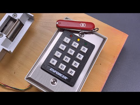 Swiss Army Knife Bypass of Keypad Lock - LockpickingLawyer