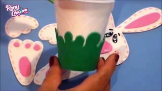 Conejitos De Foamy Dulceros - Conejo De Pascua - Easter Bunny DIY