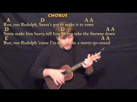 1375 - Run Run Rudolph - Chuck Berry cover with guitar chords and ...